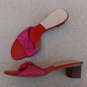 KATE SPADE Red Pink Slip On Sandal Size 8